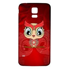 Cute Colorful  Owl, Mandala Design Samsung Galaxy S5 Back Case (white) by FantasyWorld7