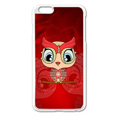 Cute Colorful  Owl, Mandala Design Apple Iphone 6 Plus/6s Plus Enamel White Case by FantasyWorld7