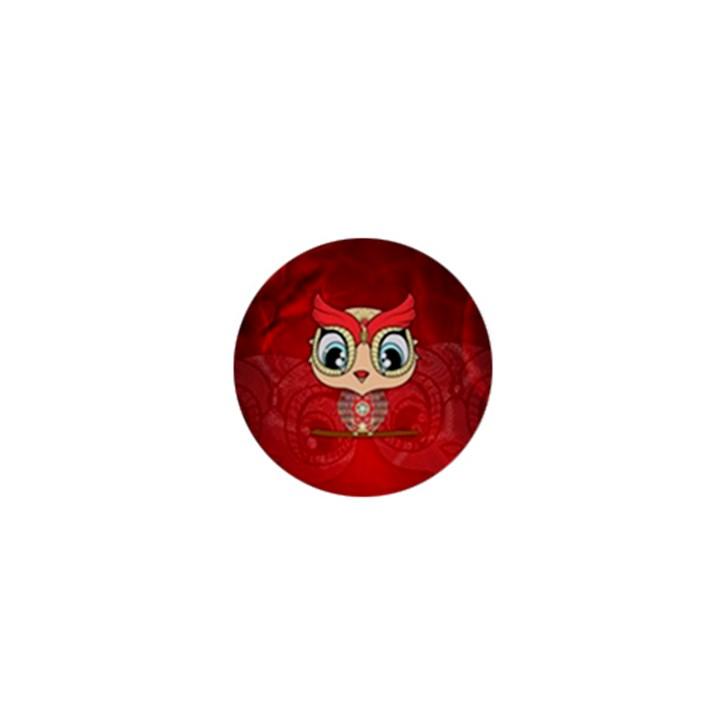Cute Colorful  Owl, Mandala Design 1  Mini Buttons