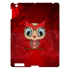 Cute Colorful  Owl, Mandala Design Apple Ipad 3/4 Hardshell Case by FantasyWorld7