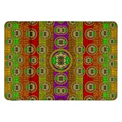 Rainbow Flowers In Heavy Metal And Paradise Namaste Style Samsung Galaxy Tab 8 9  P7300 Flip Case by pepitasart