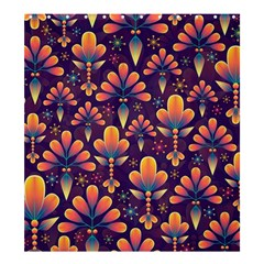 Floral Abstract Purple Pattern Shower Curtain 66  X 72  (large)  by paulaoliveiradesign