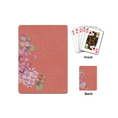 Flower Illustration Rose Floral Pattern Playing Cards (mini)  by paulaoliveiradesign