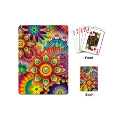 Colorful Abstract Pattern Kaleidoscope Playing Cards (mini)  by paulaoliveiradesign