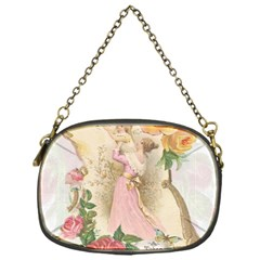 Vintage Floral Illustration Chain Purses (one Side)  by paulaoliveiradesign