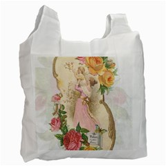 Vintage Floral Illustration Recycle Bag (one Side) by paulaoliveiradesign