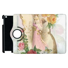 Vintage Floral Illustration Apple Ipad 3/4 Flip 360 Case by paulaoliveiradesign