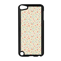 Colorful Pink Floral Cute Pattern Apple Ipod Touch 5 Case (black) by paulaoliveiradesign