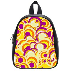 Retro Pattern 1973f School Bag (small) by MoreColorsinLife
