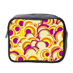 Retro Pattern 1973f Mini Toiletries Bag 2 Side by MoreColorsinLife