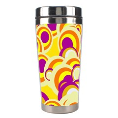 Retro Pattern 1973f Stainless Steel Travel Tumblers by MoreColorsinLife