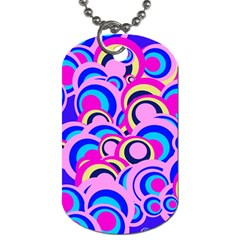 Retro Pattern 1973b Dog Tag (one Side) by MoreColorsinLife