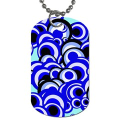 Retro Pattern 1973e Dog Tag (one Side) by MoreColorsinLife