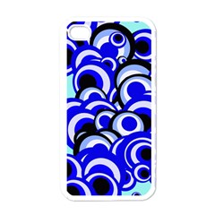 Retro Pattern 1973e Apple Iphone 4 Case (white) by MoreColorsinLife