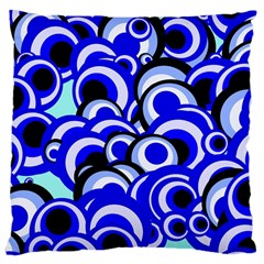 Retro Pattern 1973e Large Cushion Case (two Sides) by MoreColorsinLife