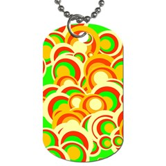 Retro Pattern 1973a Dog Tag (one Side) by MoreColorsinLife