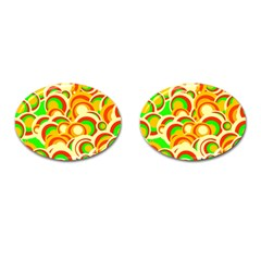 Retro Pattern 1973a Cufflinks (oval) by MoreColorsinLife
