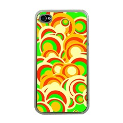 Retro Pattern 1973a Apple Iphone 4 Case (clear)