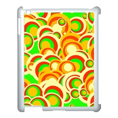 Retro Pattern 1973a Apple Ipad 3/4 Case (white) by MoreColorsinLife