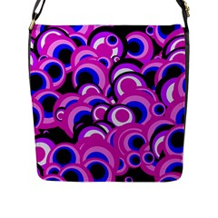 Retro Pattern 1973d Flap Messenger Bag (l)  by MoreColorsinLife