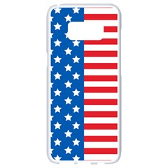 Usa Flag Samsung Galaxy S8 White Seamless Case by stockimagefolio1