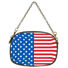 Usa Flag Chain Purses (two Sides)  by stockimagefolio1