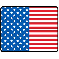 Usa Flag Fleece Blanket (medium)  by stockimagefolio1