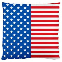 Usa Flag Large Flano Cushion Case (one Side) by stockimagefolio1