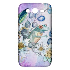 Funny, Cute Frog With Waterlily And Leaves Samsung Galaxy Mega 5 8 I9152 Hardshell Case  by FantasyWorld7
