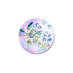 Funny, Cute Frog With Waterlily And Leaves Golf Ball Marker (10 Pack) by FantasyWorld7