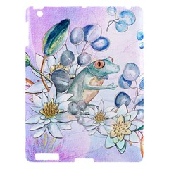 Funny, Cute Frog With Waterlily And Leaves Apple Ipad 3/4 Hardshell Case by FantasyWorld7