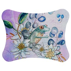 Funny, Cute Frog With Waterlily And Leaves Jigsaw Puzzle Photo Stand (bow) by FantasyWorld7