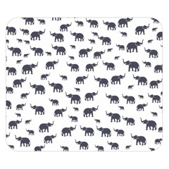 Elephant Pattern Double Sided Flano Blanket (small)  by stockimagefolio1
