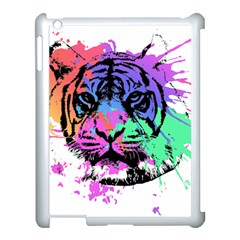 Tiger Apple Ipad 3/4 Case (white) by stockimagefolio1