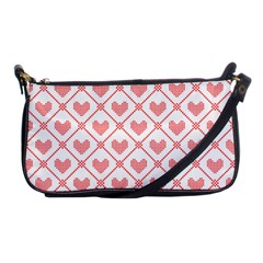 Heart Pattern Shoulder Clutch Bags by stockimagefolio1