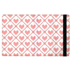 Heart Pattern Apple Ipad 3/4 Flip Case by stockimagefolio1