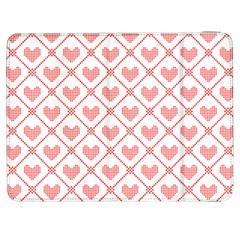 Heart Pattern Samsung Galaxy Tab 7  P1000 Flip Case by stockimagefolio1