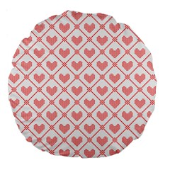 Heart Pattern Large 18  Premium Flano Round Cushions by stockimagefolio1