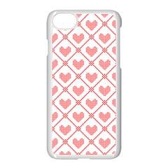 Heart Pattern Apple Iphone 7 Seamless Case (white) by stockimagefolio1