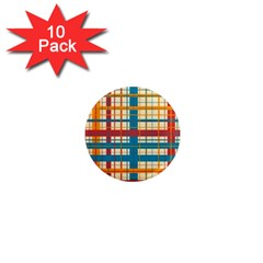 Plaid Pattern 1  Mini Magnet (10 Pack)  by linceazul