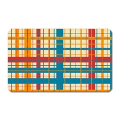 Plaid Pattern Magnet (rectangular) by linceazul
