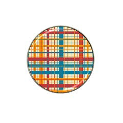 Plaid Pattern Hat Clip Ball Marker (4 Pack) by linceazul