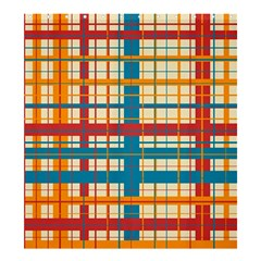 Plaid Pattern Shower Curtain 66  X 72  (large)  by linceazul