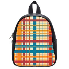 Plaid Pattern School Bag (small) by linceazul