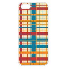 Plaid Pattern Apple Iphone 5 Seamless Case (white) by linceazul