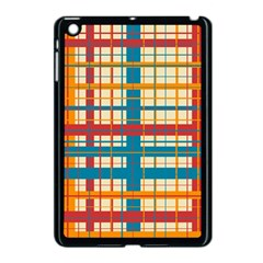 Plaid Pattern Apple Ipad Mini Case (black) by linceazul