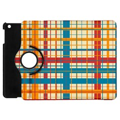 Plaid Pattern Apple Ipad Mini Flip 360 Case by linceazul