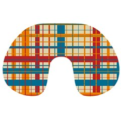 Plaid Pattern Travel Neck Pillows by linceazul