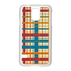 Plaid Pattern Samsung Galaxy S5 Case (white) by linceazul