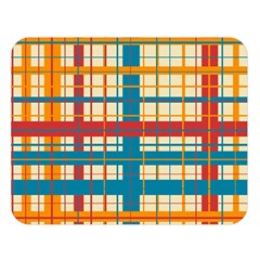 Plaid Pattern Double Sided Flano Blanket (large)  by linceazul